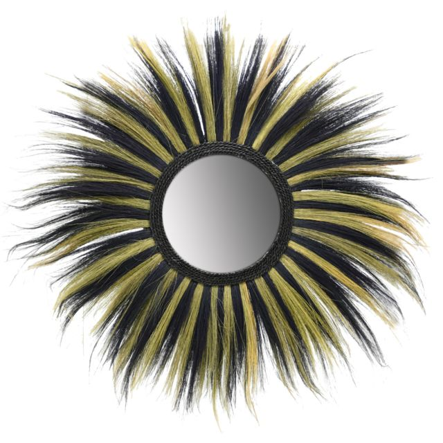 AUBRY GASPARD Miroir déco bicolore en jonc