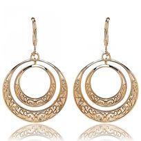 Bijoux en Vogue - Boucles d'oreilles Plaqué Or