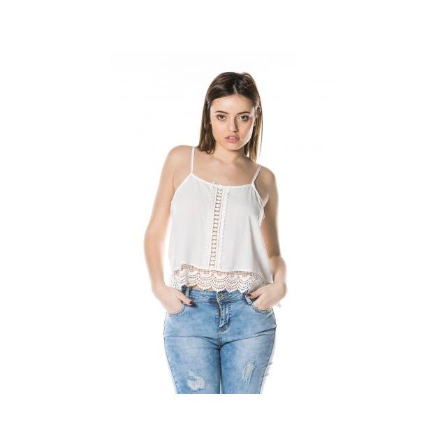 Princesse Boutique - Débardeur Blanc à dentelle - pas cher Achat ... 901edf0045a