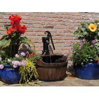 Ubbink - Fontaine de jardin rustique New Castle pompe à bras