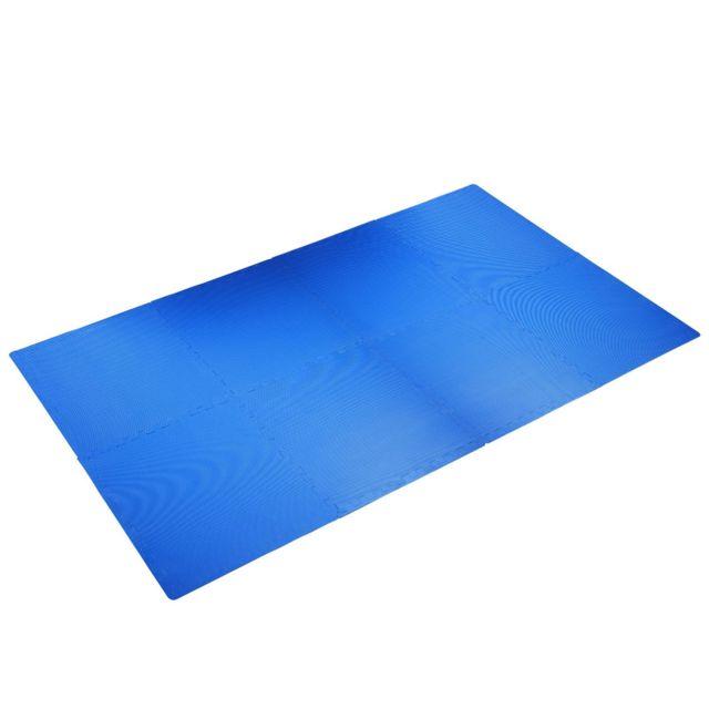 homcom tapis de protection tapis de sol puzzle mousse lot de 8 pi ces total 2 88 m avec. Black Bedroom Furniture Sets. Home Design Ideas