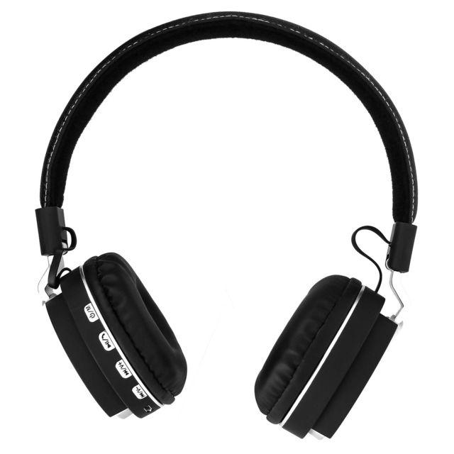 avizar casque audio bluetooth sans fil noir design pliable port jack 3 5 int gr pas cher. Black Bedroom Furniture Sets. Home Design Ideas