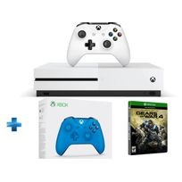 MICROSOFT - Pack Xbox One S 500GO nue + Gears of War 4 + manette Xbox Bleue