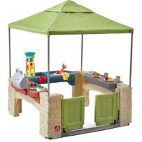 STEP 2 - Aire de jeux en plastique avec tente intégrée