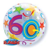 Qualatex - Ballon 60 ans Bubbles
