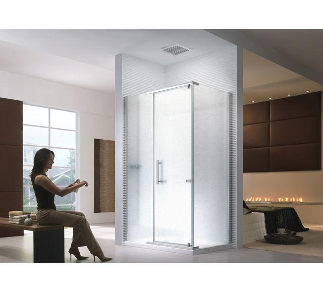 lifestyle proaktiv 100x90x195cm cabine de douche hephaistos frosted glass sans bac de. Black Bedroom Furniture Sets. Home Design Ideas