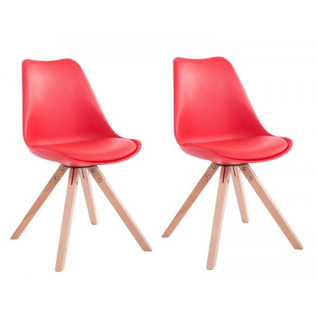Decoshop26 Lot De 2 Chaises De Salle A Manger Scandinave Simili