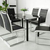 BELIANI Lot de 2 chaises de salle à manger noires