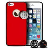 Qdos - Coque Housse Etui Custom Buttons Series, Rouge iPhone 5/5S/SE
