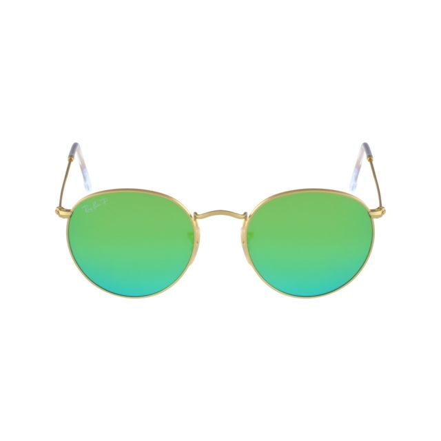 ccf782ec43352 Ray-Ban - Ray Ban - Round Metal Rb3447 112 P9 Or mat - Lunettes de ...