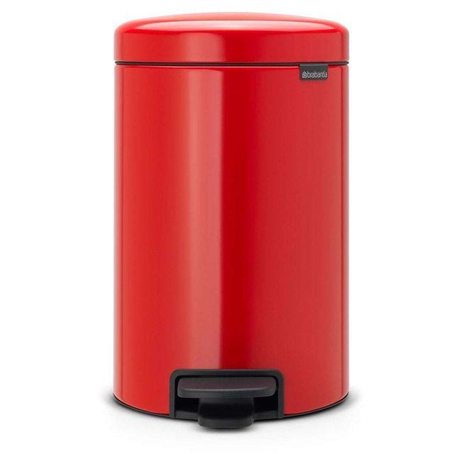 Brabantia Poubelle Newicon 12 L Rouge