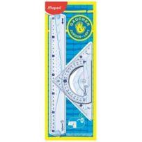 Helix - Maped Kit géométrie pour gauchers, 4 pièces, transparent