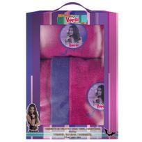 Chica Vampiro - Boite cadeau Chica : peignoir taille 6/8 Ans + serviette 50 100cm, 100% coton