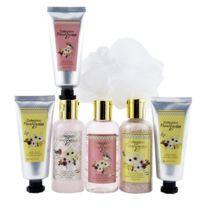 Coffret cadeau coffret de bain parfum fleur de pivoine et patchouli - 7pcs