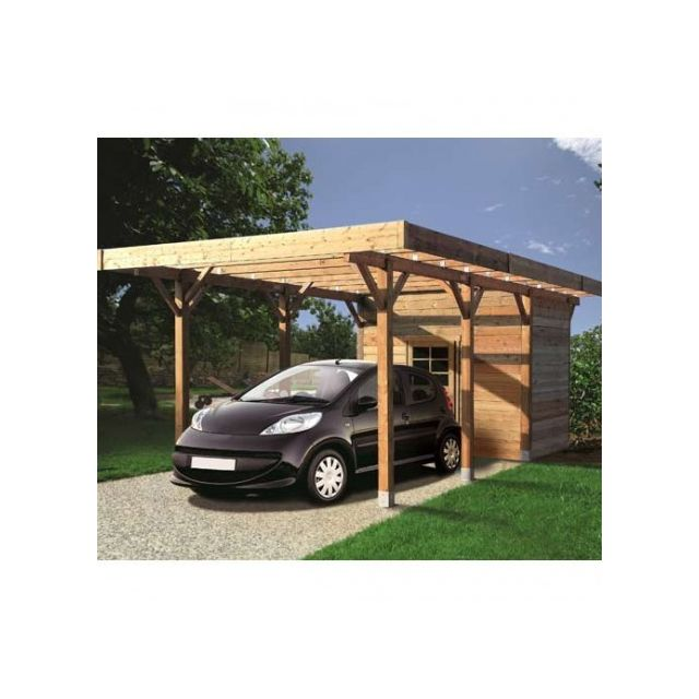 solid carport 3064 x 7064 mm avec abri de rangement. Black Bedroom Furniture Sets. Home Design Ideas