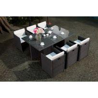 Rocambolesk - Magnifique salon de jardin vitoria table + 6 ...
