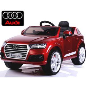 audi voiture lectrique enfant nouvelle q7 roues gomme 12v rouge peinte pas cher achat. Black Bedroom Furniture Sets. Home Design Ideas