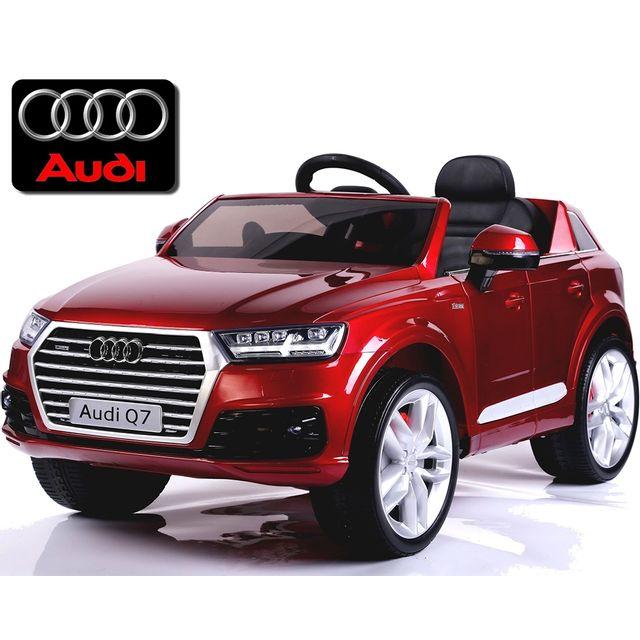 Audi - Voiture quad électrique enfant Nouvelle Audi Q7 roues gomme 12V  Rouge peinte b9a8f253c613