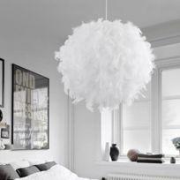 Wewoo   Lampe Suspendue Luminaire Salon 40cm Pendentif Moderne Lumineux  Balle Romantique Forme Plume De Pvc
