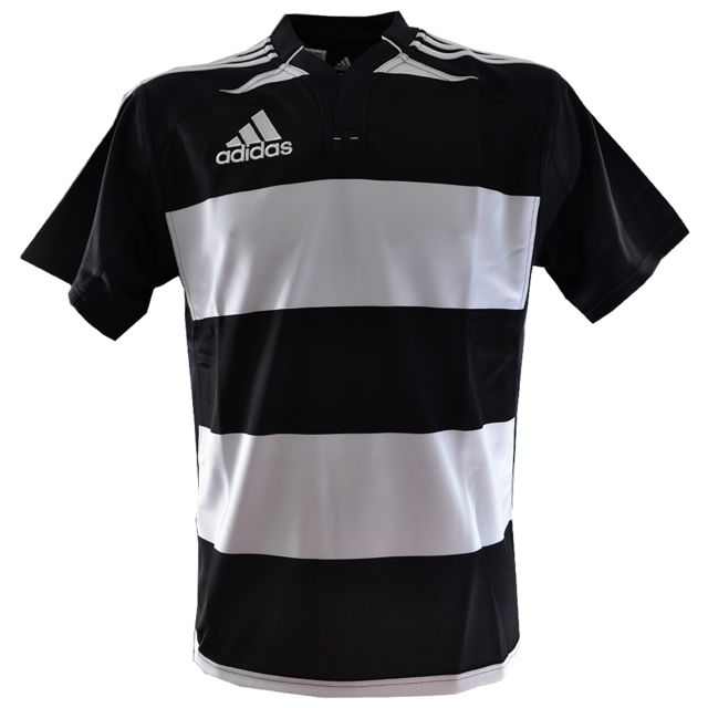 Adidas Performance Maillot Rugby Hooped Jr Blanc Noir