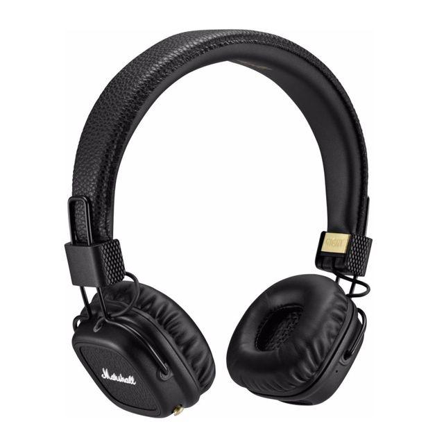 marshall casque audio sans fil major ii bt arc noir noir. Black Bedroom Furniture Sets. Home Design Ideas