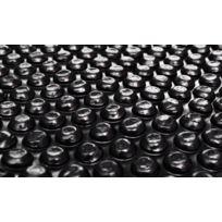 Destockoutils - Bâche à bulles noire pour piscine 4 x 6 m - couverture solaire 200 microns non bordée