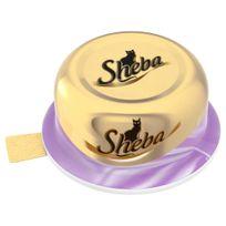 Sheba - Pâtée Dôme aux Filets de Thon et Crevettes pour Chat - 80g