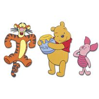 Decofun - Stickers Mousse Winnie Pooh Set de 3 Elements