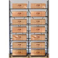 L'ATELIER Du Vin - Solution de rangement pour 14 caisses de vins - Noir Aci-adv910x2