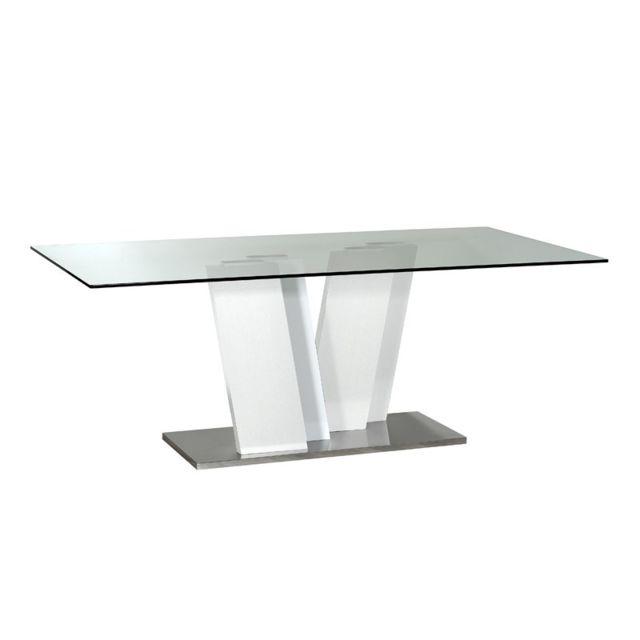 Tousmesmeubles Table de repas - Krys - L 200 x l 100 x H 76