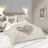 Lovely Casa - Housse de couette Woodlove 240x260cm 100% coton 57Fils
