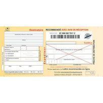 Techmay - Etiquette imprimée pour recommandé format guichet Sgr2 - Boîte de 100