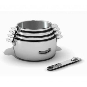 kitchen fun s rie de 4 casseroles inox 14 16 18 20cm 12566964 pas cher achat vente. Black Bedroom Furniture Sets. Home Design Ideas