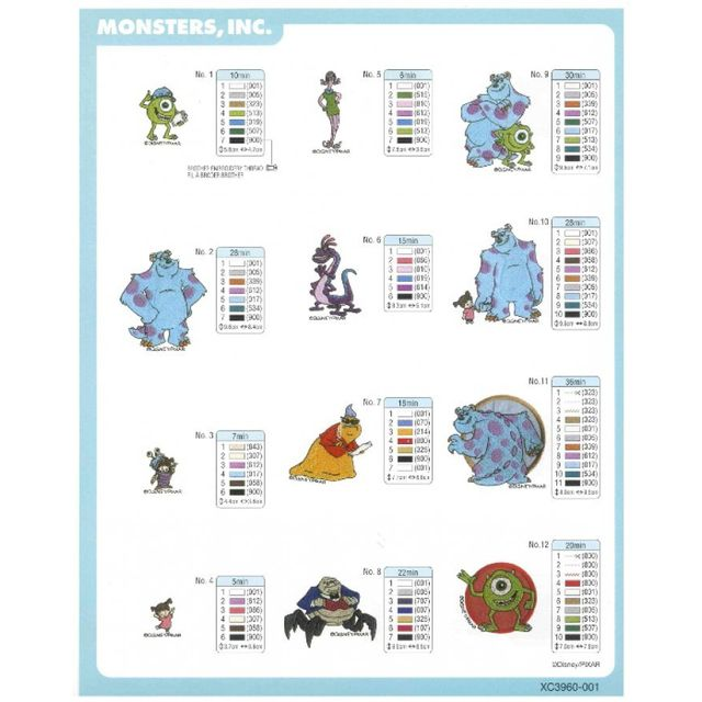 BROTHER Carte de broderie Monsters, INC