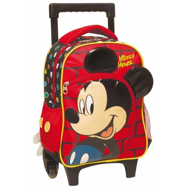 Mickey - Sac à roulettes Mickey 3D trolley maternelle 31 Cm - Cartable f41e0759dbfa