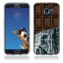 Kabiloo - Coque Souple en gel pour Samsung Galaxy S6 Edge avec impression tablette de chocolat
