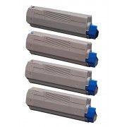 Marque Generique Pack Fg Encre Cartouche de Toner Compatible pour Oki C5500-C5800-C5900 Bk/C/M/Y Lot de 4