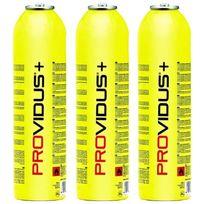 Providus - Pack de 3 bouteille gaz 450g gasex - mix propane - bouteille de gaz à valve 880 ml - bonbonne pour bi gaz et chalumeaux a gaz