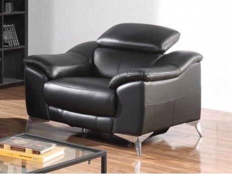 Marque Generique Fauteuil relax électrique en cuir Daloa - Noir