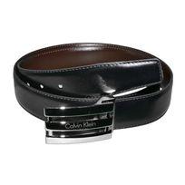 Calvin Klein - Ceinture - D46 - Homme - Cuir - Noir Marron - Taille Unique 52cd06f617c