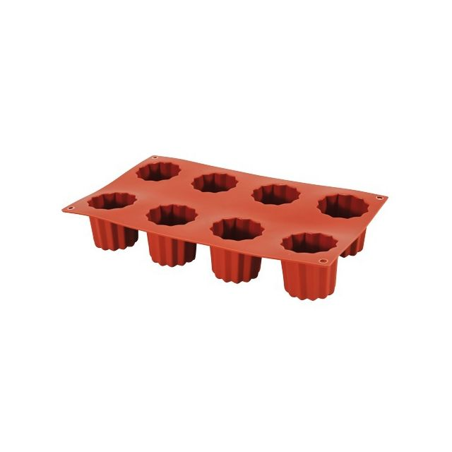 Guery Moule silicone cannelés 8 empreintes