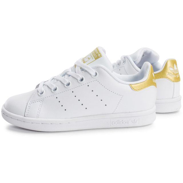 Adidas originals - Stan Smith Enfant Blanche Et Or