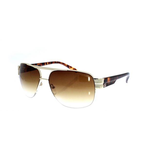 Guess - Guf 126 Gld-34 - Lunettes de soleil homme - pas cher Achat   Vente  Lunettes Tendance - RueDuCommerce fe6c7123f543