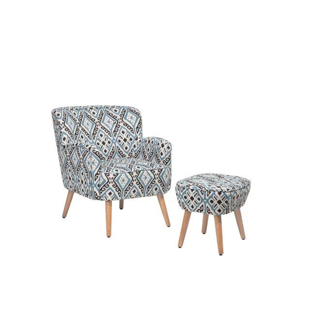 BELIANI Ensemble fauteuil avec repose-pieds TUMBA - coloré