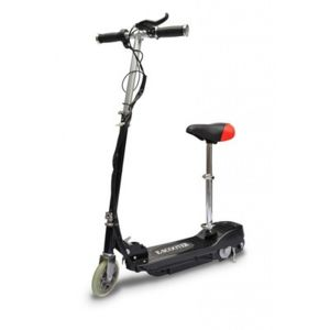 destockoutils trottinette lectrique e scooter noire 120w avec selle pas cher achat vente. Black Bedroom Furniture Sets. Home Design Ideas