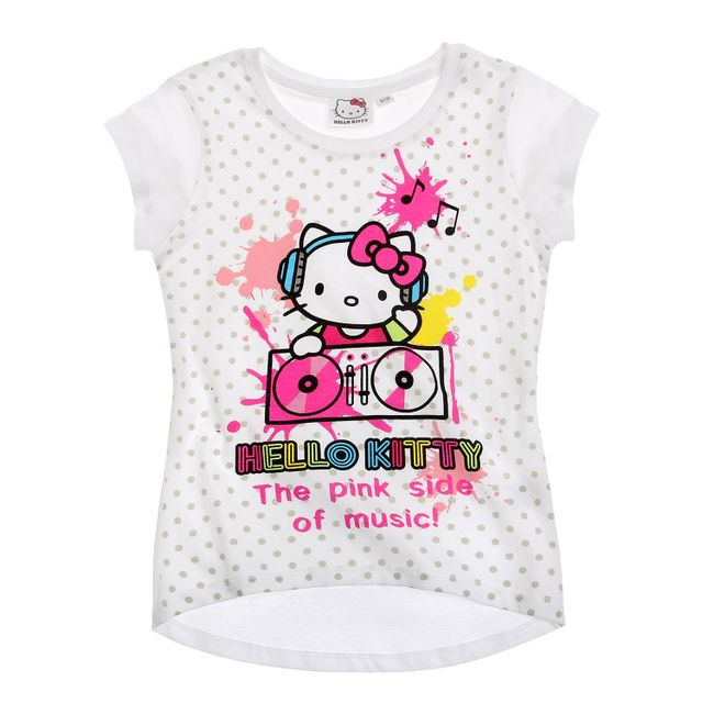 Polo Shirt Cher Achat Hello Vente Fille Tee Pas Kitty Enfant 5cjqLR34AS