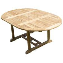 Teck'LINE - Table Sawah Ronde/Ovale120-180x120x75 Teck Premium