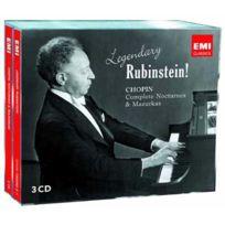 Emi Classics - Arthur Rubinstein - Legendary Rubinstein : Chopin, Complete nocturnes & mazurkas Boitier cristal