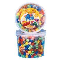 Hama - 8573 - Loisir Créatif - Maxi Pot Pm 600 Perles - Mix 7 Couleurs