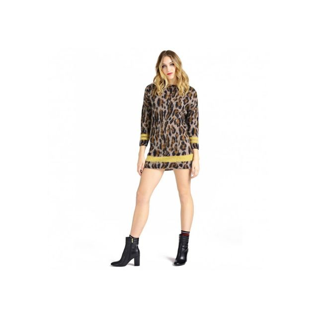 Guess Robe Pull W94r0p Leo Fantasy Taille S Pas Cher Achat Vente Robes Rueducommerce